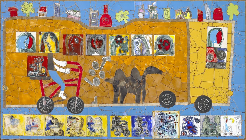 Camello (Camel), 2002. Ceramic mural. 40 x 72 in.