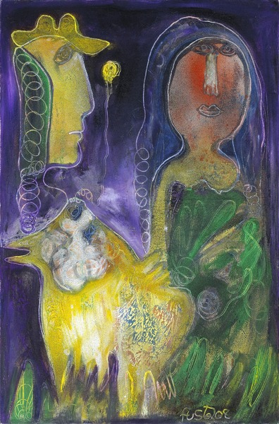 Gallo en la noche (Rooster at Night), 2008. Oil on canvas. 65 x 45 1/4 in.