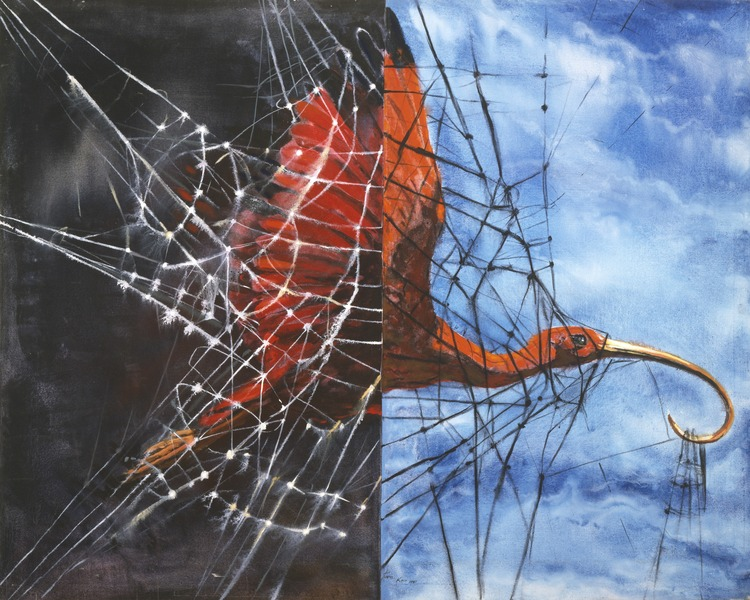 Todo (Everything), 1990. Acrylic on canvas. 53 x 65 1/2 in.