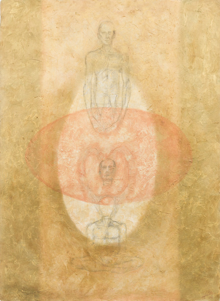 Untitled, 1999. Acrylic and graphite on posterboard. 29 7/8 x 22 in.