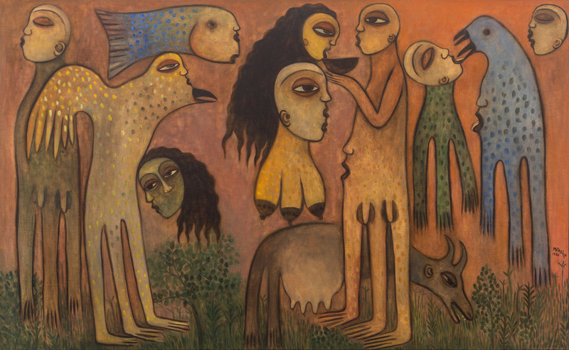 En tiempos de armonía (In Times of Harmony), 1986. Oil on canvas. 46 x 75 in.