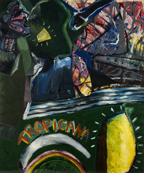 Tropicana, de la serie Formas escondidas (Tropicana, from the series Hidden Forms), 1987. Oil on canvas. 47 1/4 x 39 3/8 in.