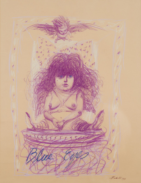 Blue Eyes, 1993. Crayon on paper. 25 9/16 x 19 11/16 in.