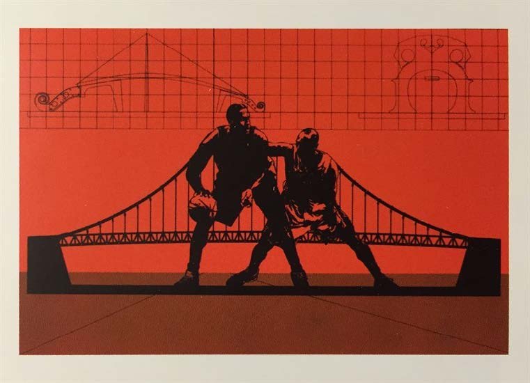 Puente, del Portafolio No. 1 (Bridge, from the Portfolio No. 1), 2013-2014. Silkscreen on Fabriano paper. Paper: 19 3/4 x 27 3/4 in.