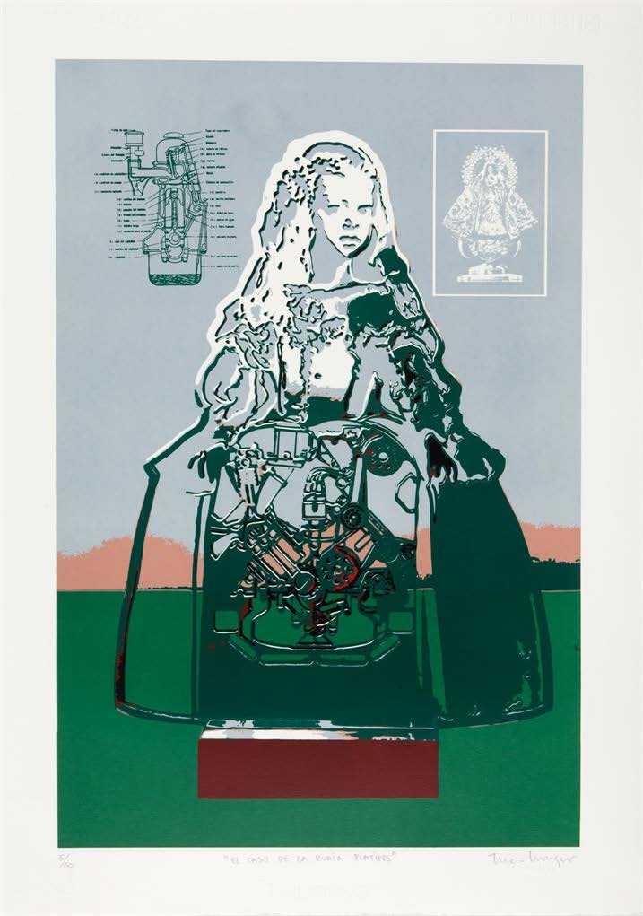 El caso de la rubia platino, del Portafolio No. 1 (The Case of the Platinum Blonde, from the Portfolio No. 1), 2013-2014. Silkscreen on Fabriano paper. Paper: 27 3/4 x 19 3/4 in.