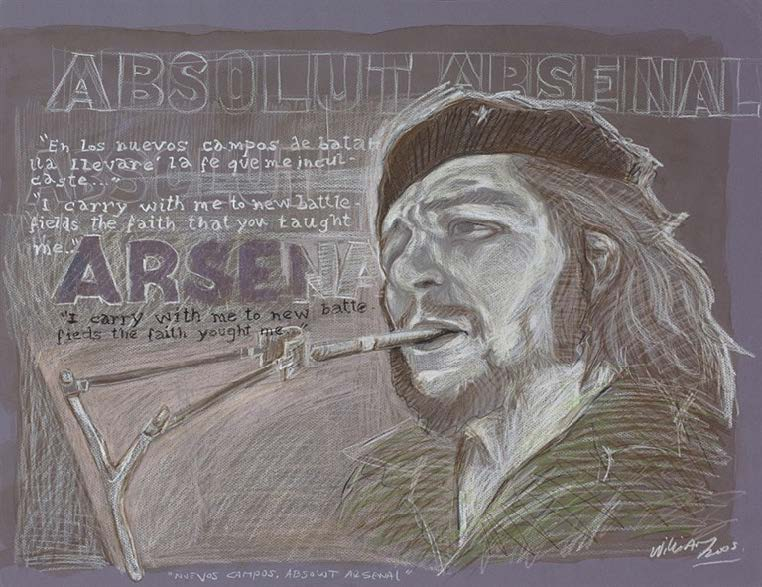 Nuevos campos, Absolut Arsenal (New Fields, Absolut Arsenal), 2005. Oil pastel on paper. Object: 19 3/4 x 25 1/2 in. Framed: 25 1/2 x 31 1/8 in.