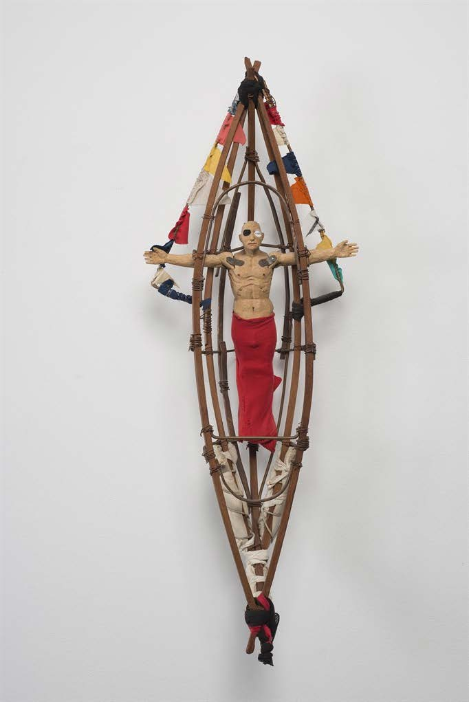 Untitled, ca. 1999. Wood, metal, fabric and strings. Object: 30 1/2 x 11 1/2 x 5 1/2 in.