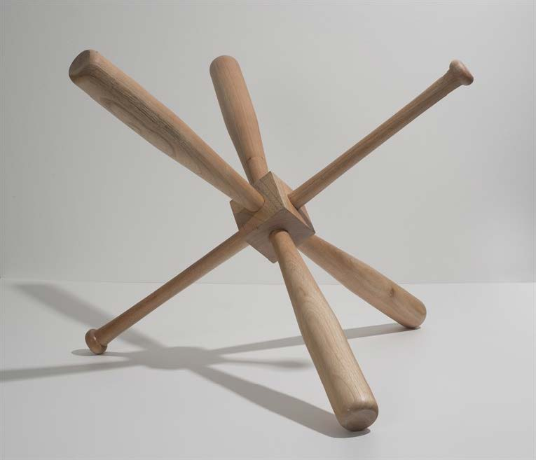 Changed Game, 2013. Wood. Object: 29 1/2 x 21 x 21 in.