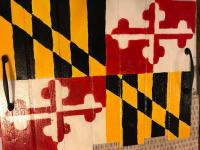Maryland Flag Wooden Board