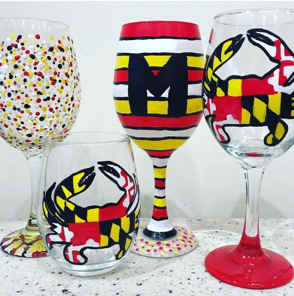 Maryland Themed Glassware