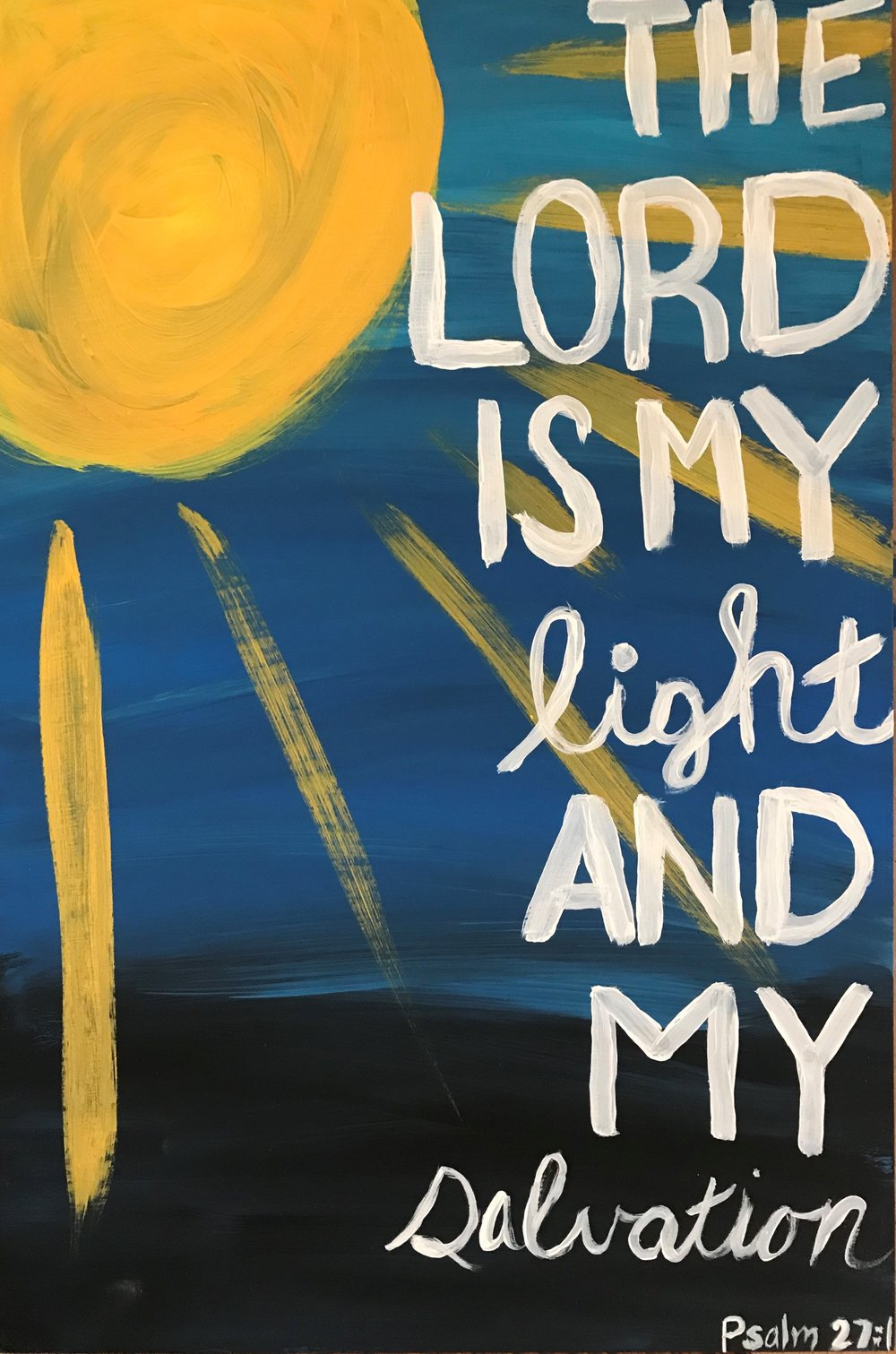 Psalm 27:1 Wooden Board