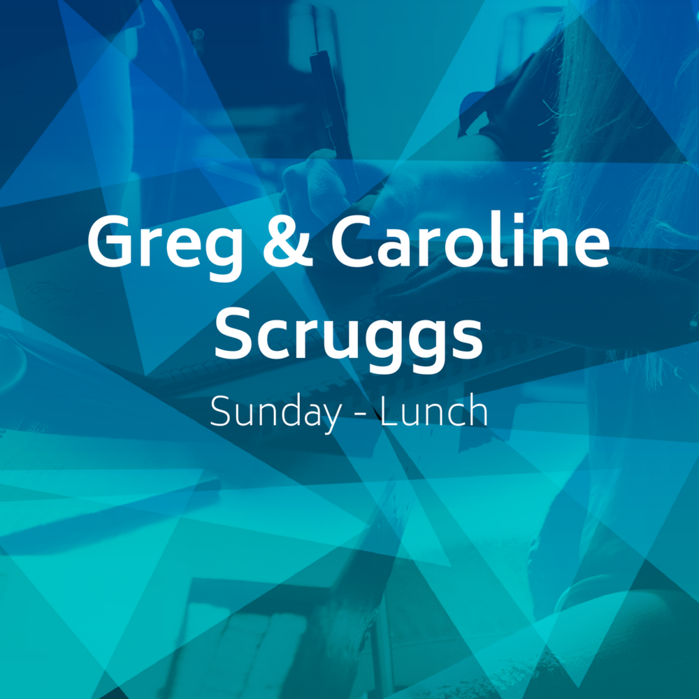 CLOSED - Sunday Lunch Group - The Scruggs' small group will be meeting Sunday's at lunch time in a local restaurant following the 2nd service, around 12:15 PM. THIS GROUP IS FULL.