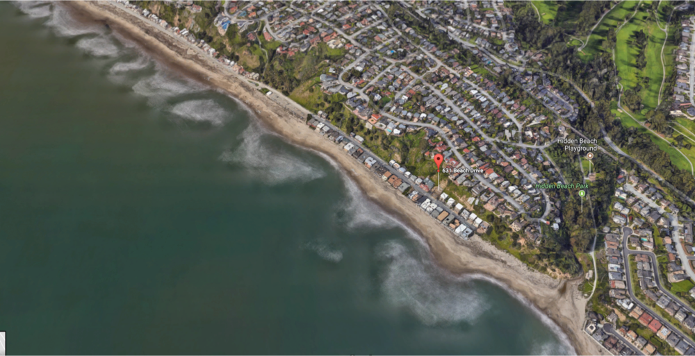 631 Beach Drive, Aptos Map