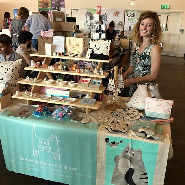 Had a lovely day at @catfestlondon yesterday. Thanks to everyone that stopped by. It was great to see so many cat lovers all under one roof 😻 bigs thanks for my little helpers aka mum and dad and @kates_makes for doing a stunning job on my newest makeup up bags and purses 😻 . . . #catfest #natcatcats #catlover #catloversworld #catstateofmind #catlovergifts