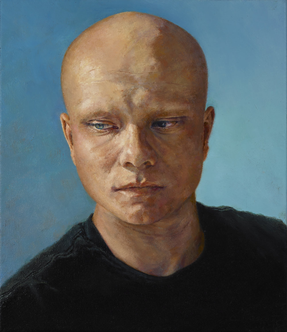 "Skylar , Oil on Canvas, 2014, 15"" x 13"", Private Collection"