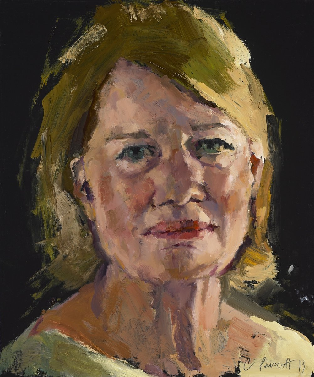 "Study of Marcia , Oil on Wood Panel. 2013, 12"" x 10"", Private Collection"