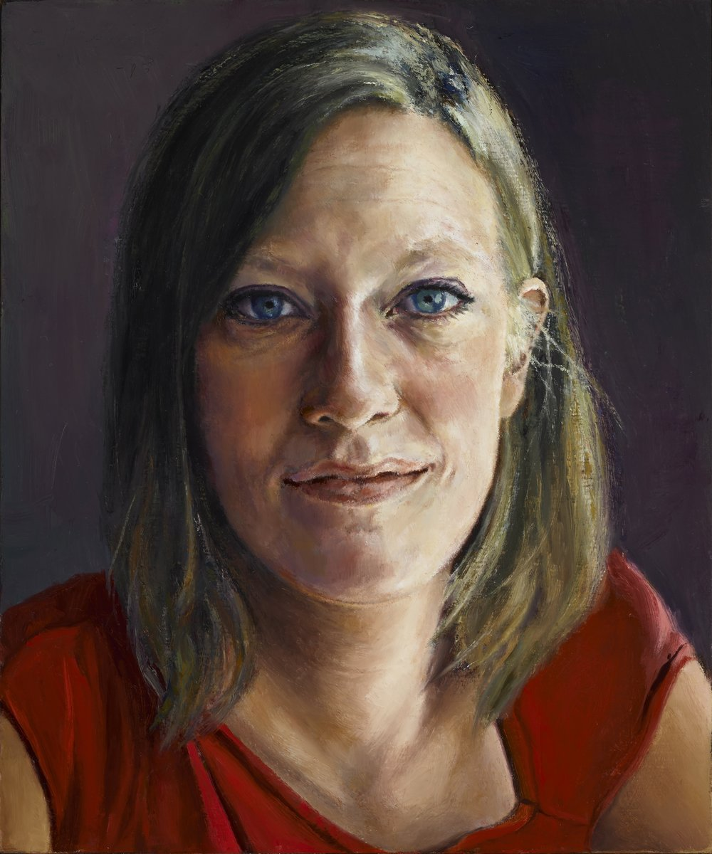 """Grace , Oil on Wood Panel. 2003-2013, 12"""" x 10"""", Private Collection"""