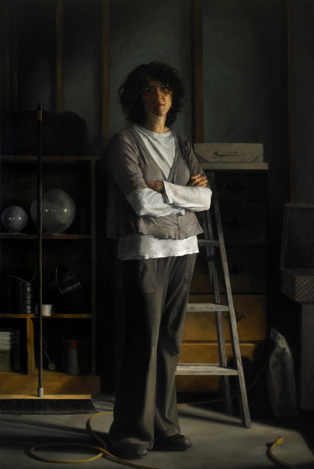 """Legacy: Portrait of Val , Oil on Canvas, 2010, 72"""" x 48""""  Outwin-Boochever Portrait Competition, Smithsonian Institution, Wasington D.C.,2012-14"""