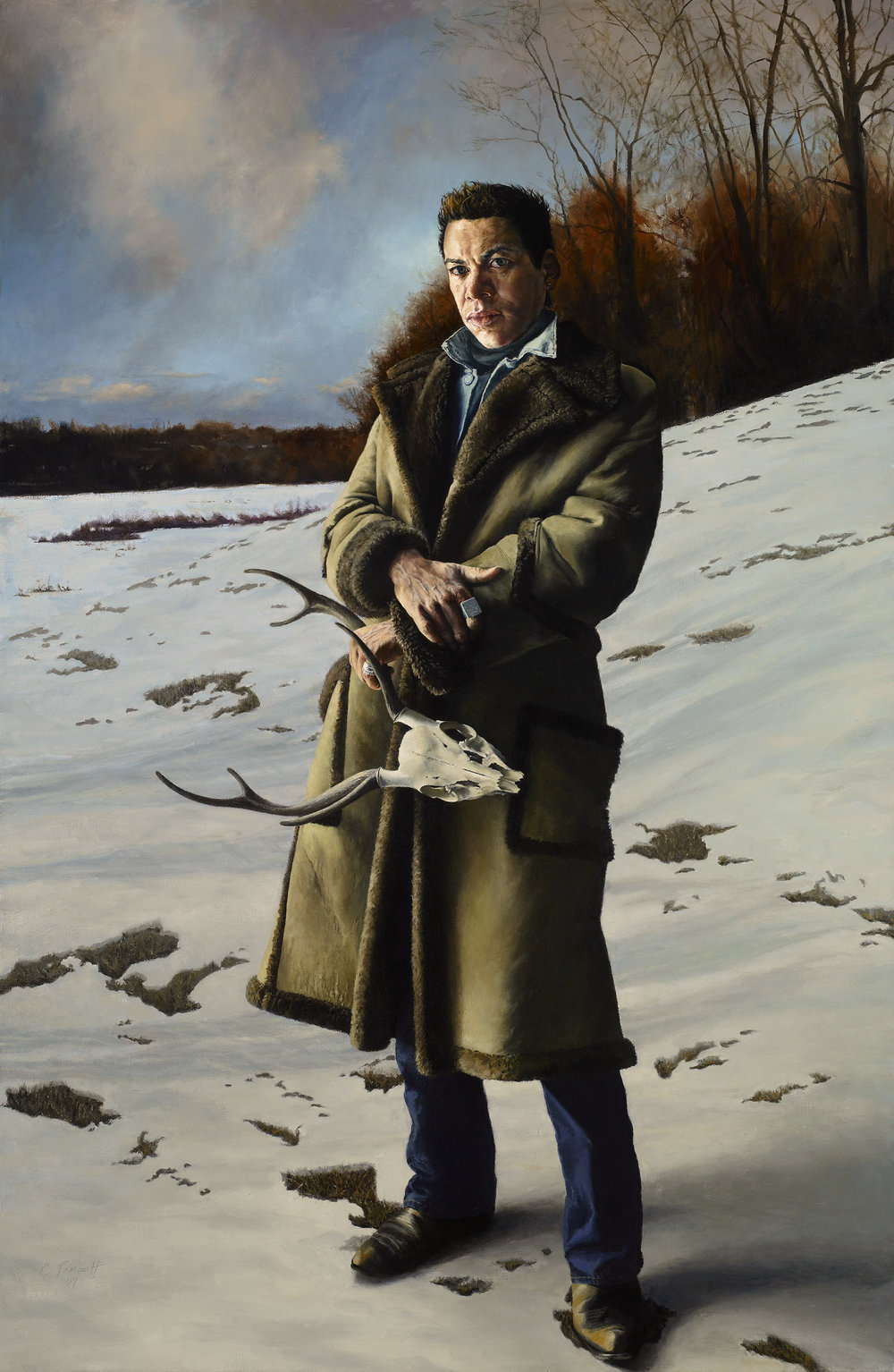 """Tommy in Pennsylvania , Oil on Canvas, 2007, 68"""" x 44"""""""