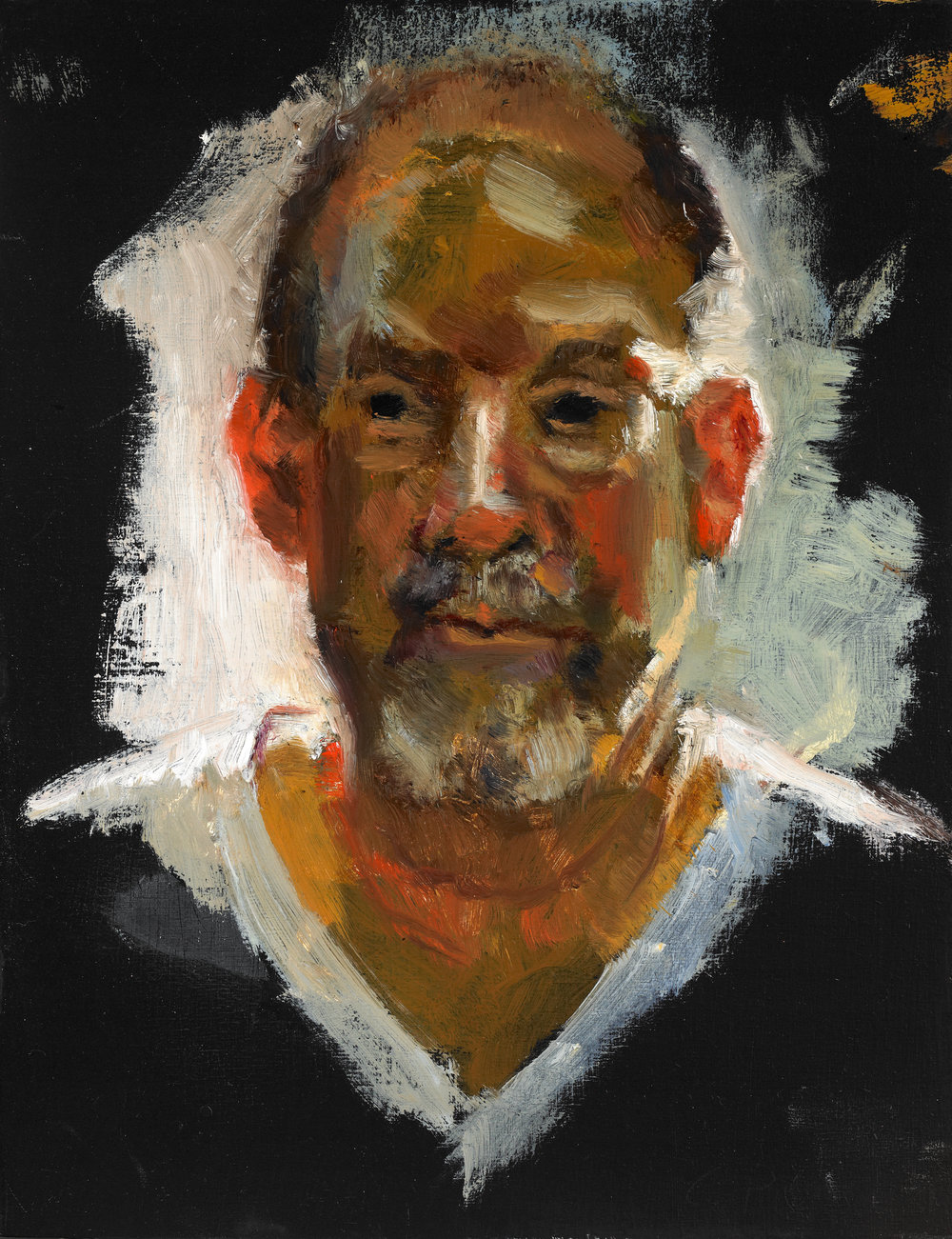 "Study of Ted , Oil on Wood Panel. 2011, 6 1/2"" x 5"""