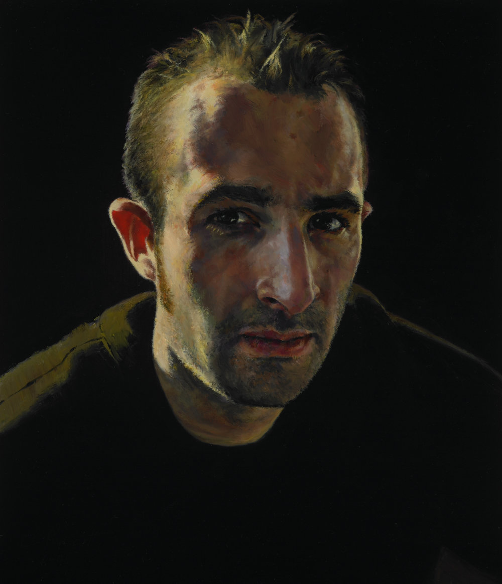 """Peter , Oil on Wood Panel, 2006, 14"""" x 12"""", Private Collection"""