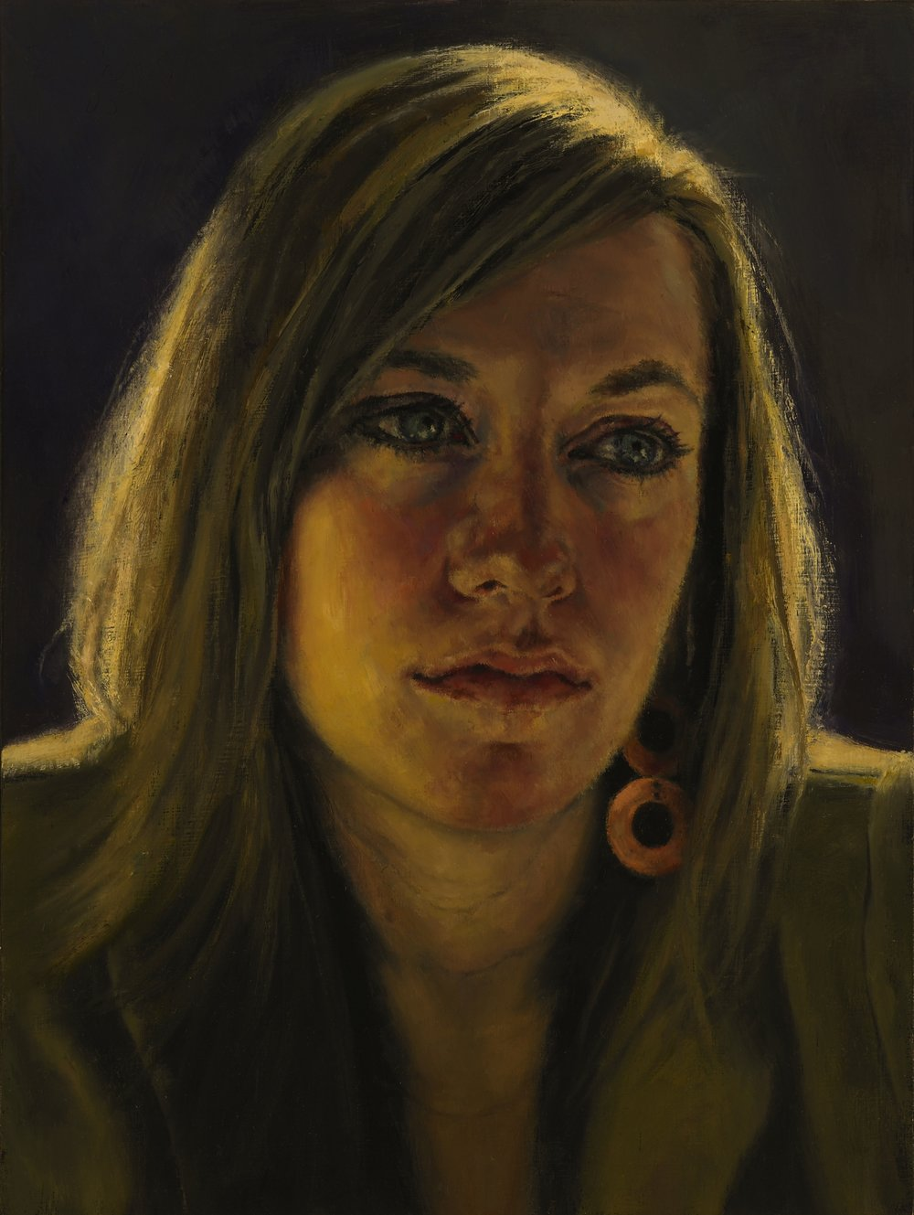 """Grace , Oil on Wood Panel, 2005, 12"""" x 9"""", Private Collection"""