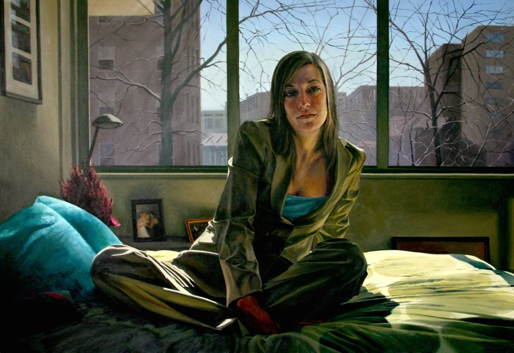 "Grace at Home , Oil on Canvas, 2005, 40"" x 58"""