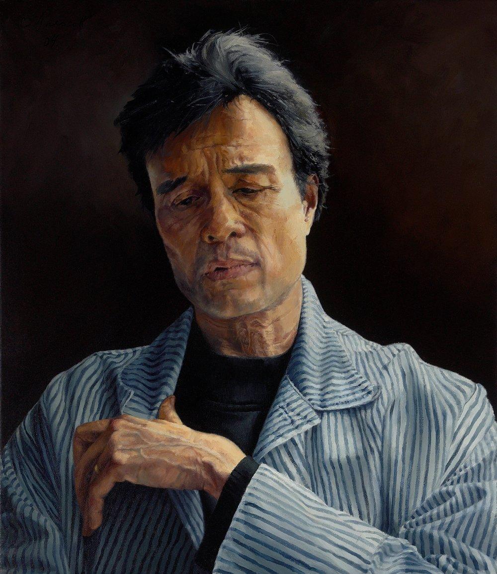 "Wayne Longing, Swallowing , Oil on Canvas, 2004, 36"" x 24"""