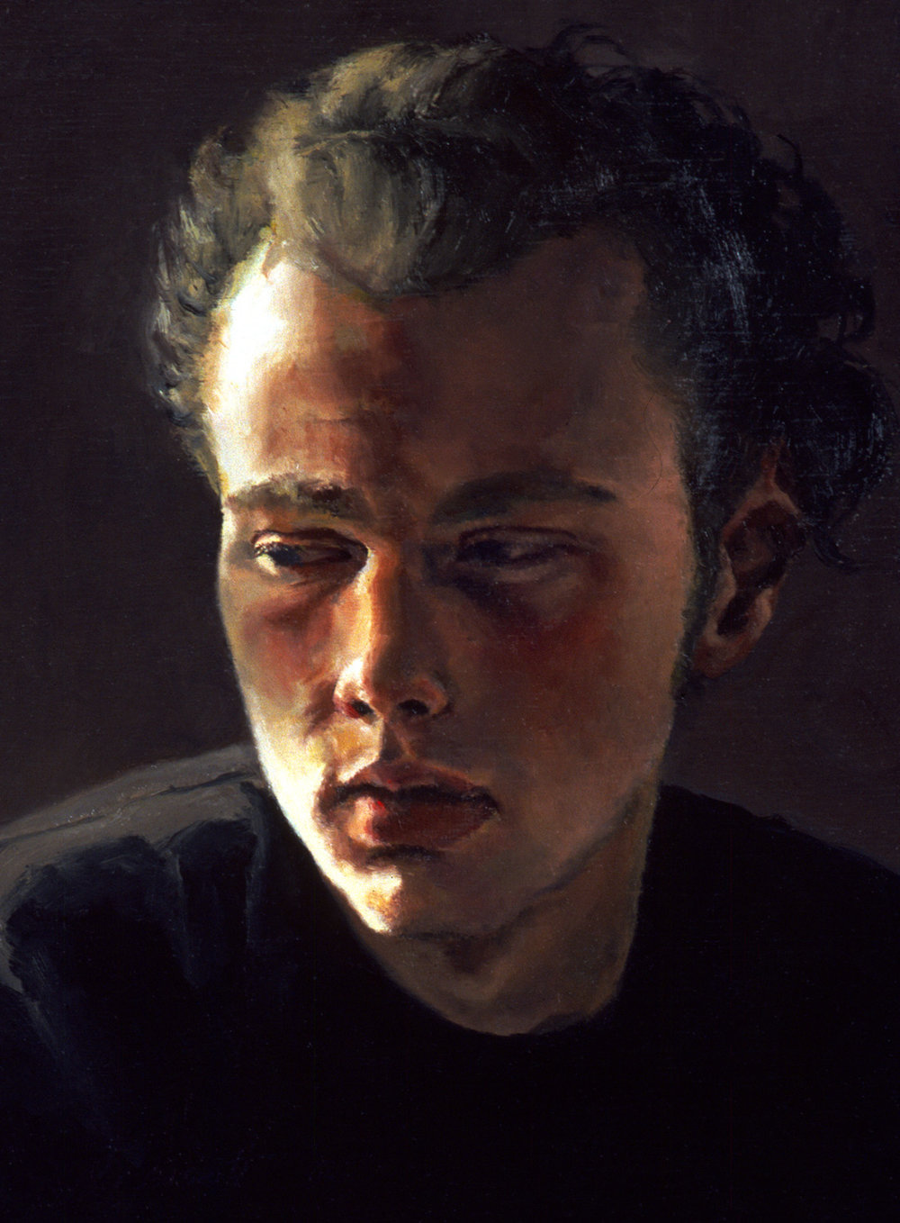 "Christopher , Oil on wood panel, 2003,12"" x 9"", Private Collection"