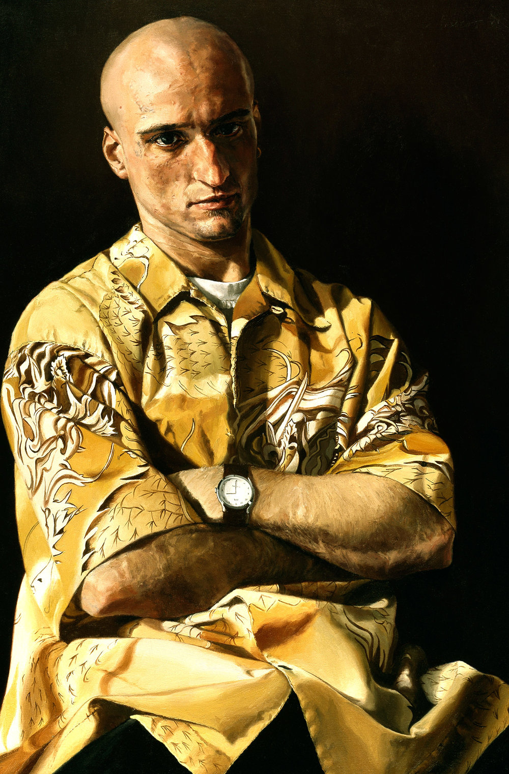 "Map: Portrait of Brendan , Oil on Canvas, 2003, 36"" x 24"""