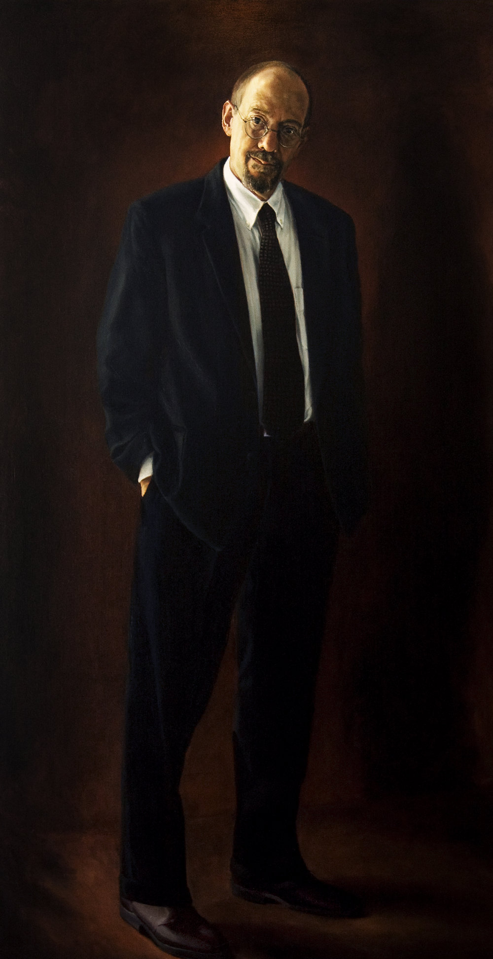 "Theodore Lewis Prescott , Oil on Canvas, 2003, 84"" x 44"""