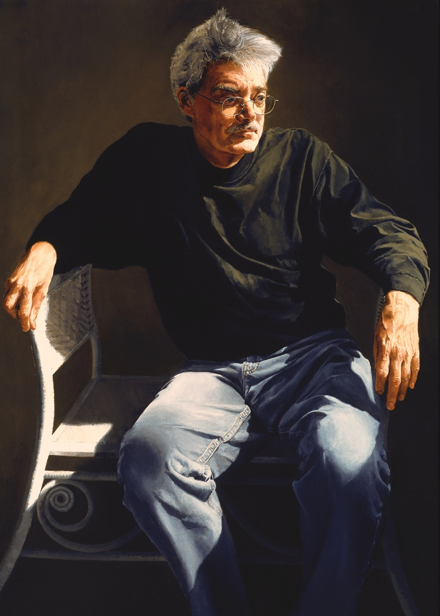 """Wild Bill , Oil on Canvas, 2002, 50"""" x 36"""", Collection Pennsylvania College of Technology"""