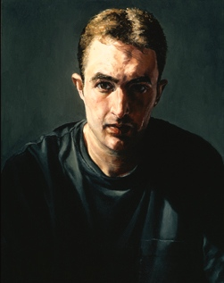 """The Artist as a Young Man: Portrait of Peter  Oil on Canvas, 2002, 28"""" x 22"""", Private Collection"""