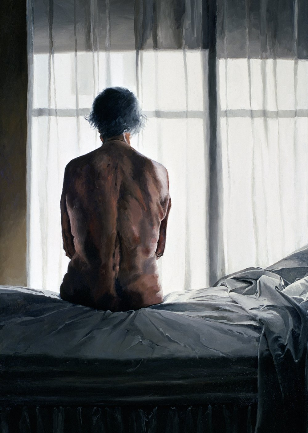 """Her Back to Me , Oil on Canvas, 1996, 66"""" x 48"""""""