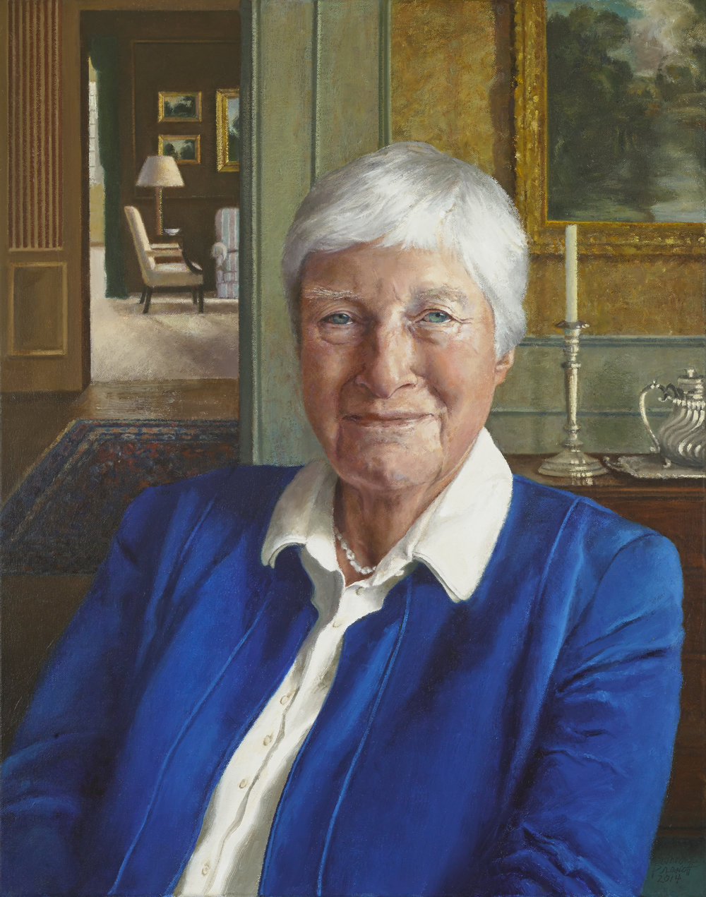"Josephine Small Schmidt Appell , Oil on Canvas, 24"" x 19"", 2014  Public Collection, York College, York, PA"