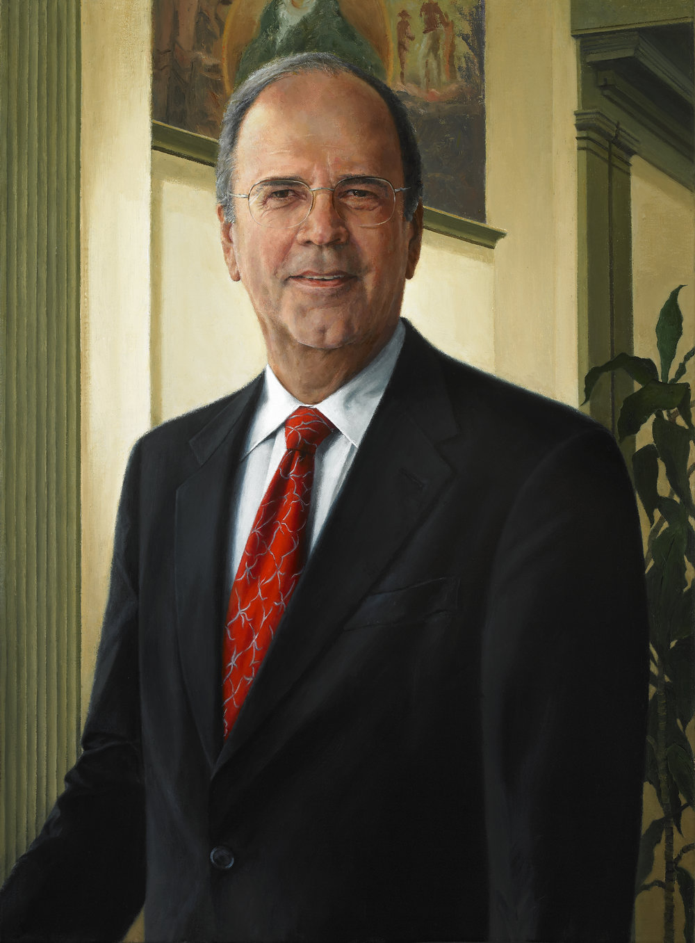 "R. Scott Smith, Jr., Chairman and Chief Executive Officer, Fulton Financial Corporation , Oil on canvas, 2012, 30"" x 22""  Private Collection, Fulton Financial Corporation, Lancaster, PA"