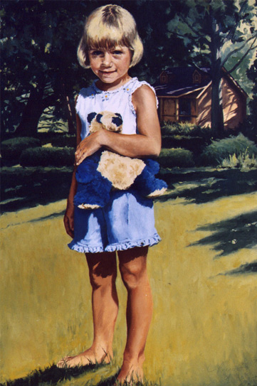 "Charlotte Scott , Oil on Canvas, 2004, 36"" x 24""  Private Collection"
