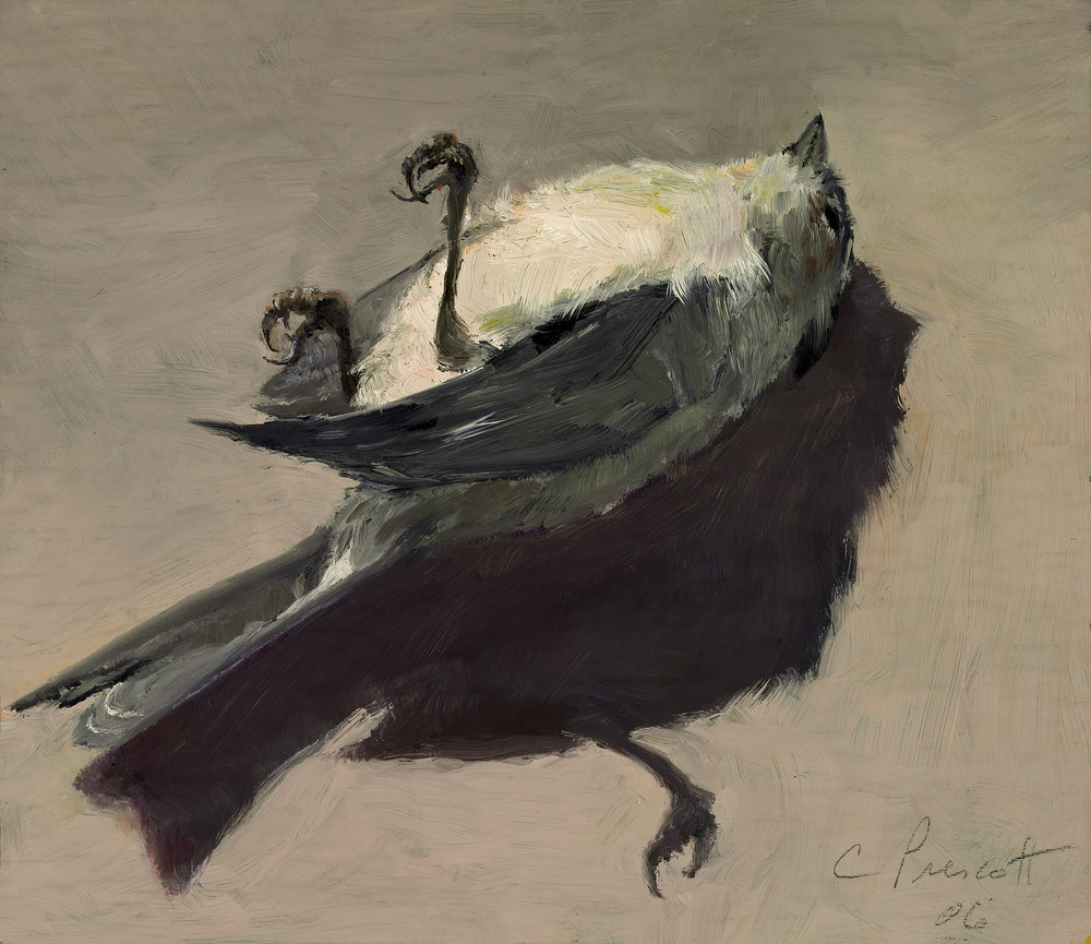 "Tufted Titmouse , Oil on Wood Panel, 2006, 6"" x 7"""