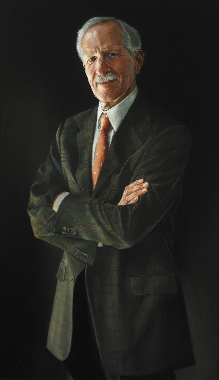 "Martin Murray, Architect , Oil on Canvas, 2004, 36"" x 21""  Private Collection"