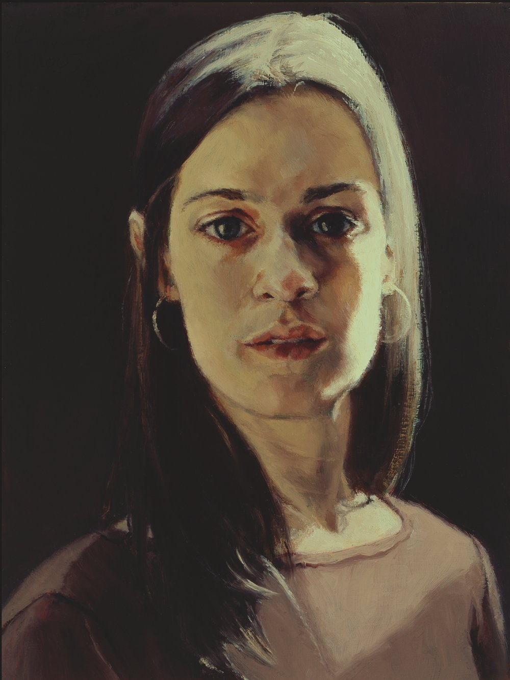 """Flora , Oil on Wood Panel, 2005, 12"""" x 9"""", Private Collection"""