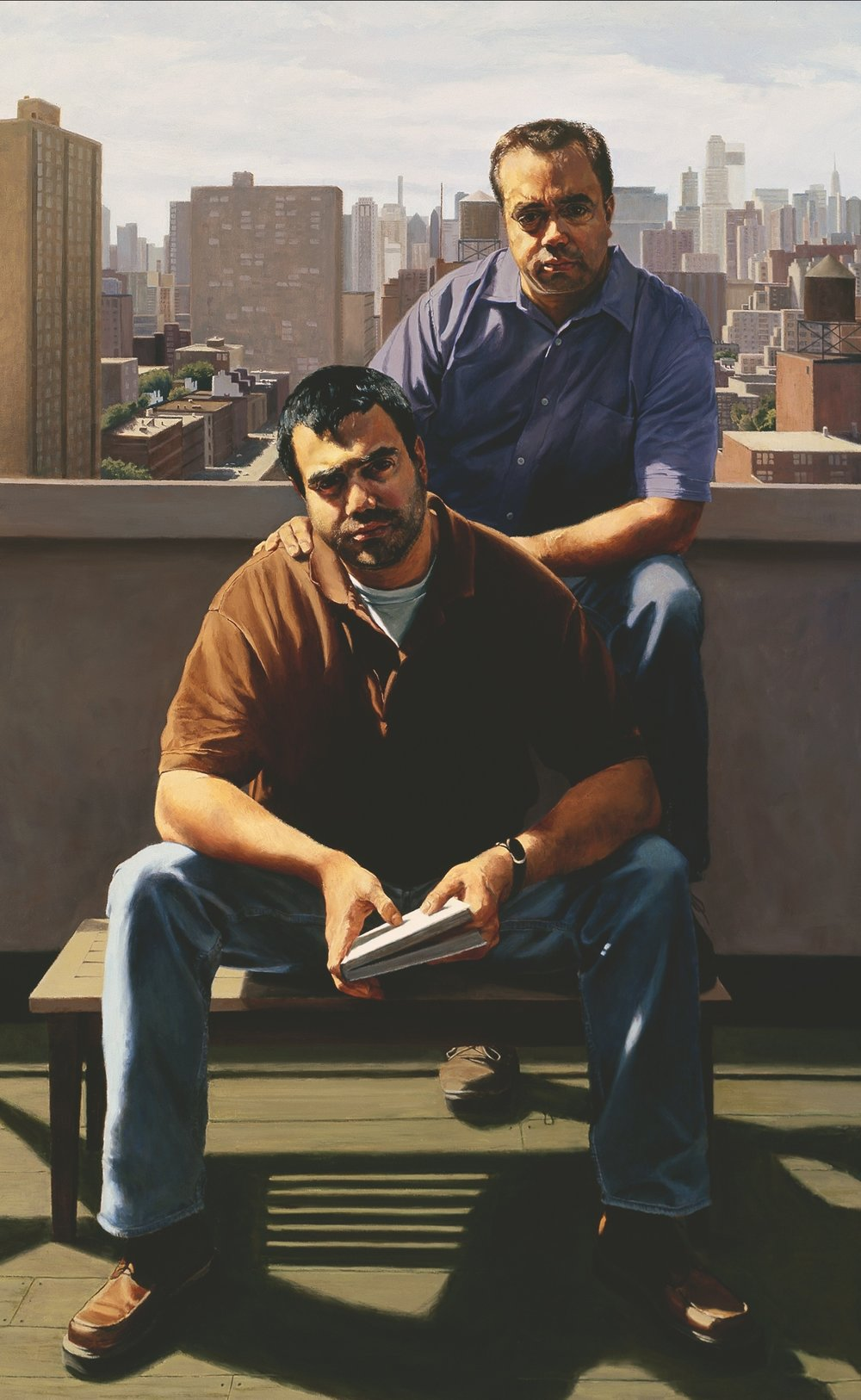 """The Armetta Brothers , Oil on Canvas, 2003, 80"""" x 50"""""""