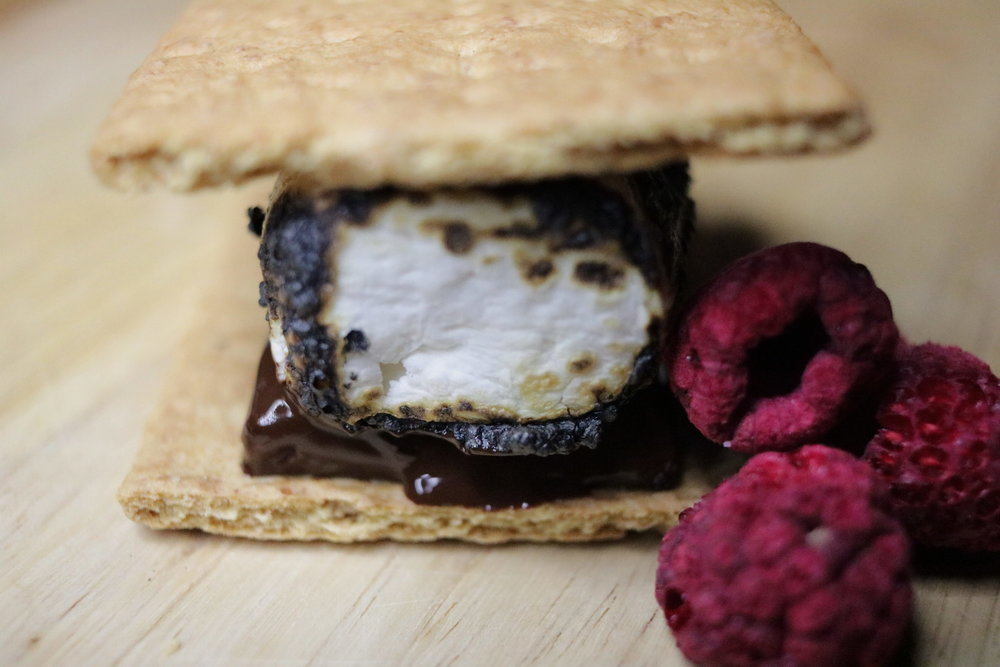 Chocolate covered raspberry s'more