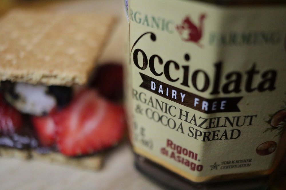 Nocciolata and strawberries are a match made in s'more heaven