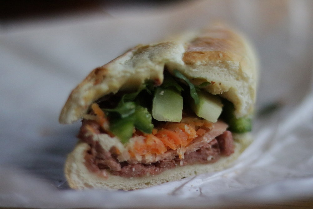 "#121 Chinese BBQ ""pork"" banh mi"