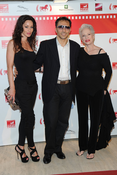 At the premiere of  Desires  in Milan with Melanie Marden and Andrea Galante (2013)