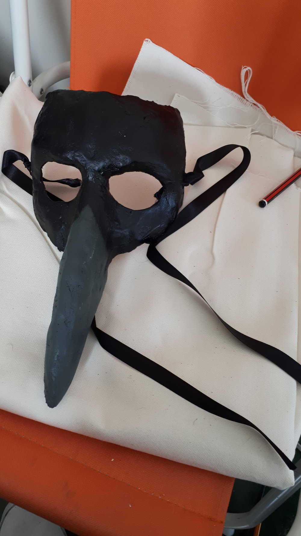 The Sluagh mask made from plaster bandage