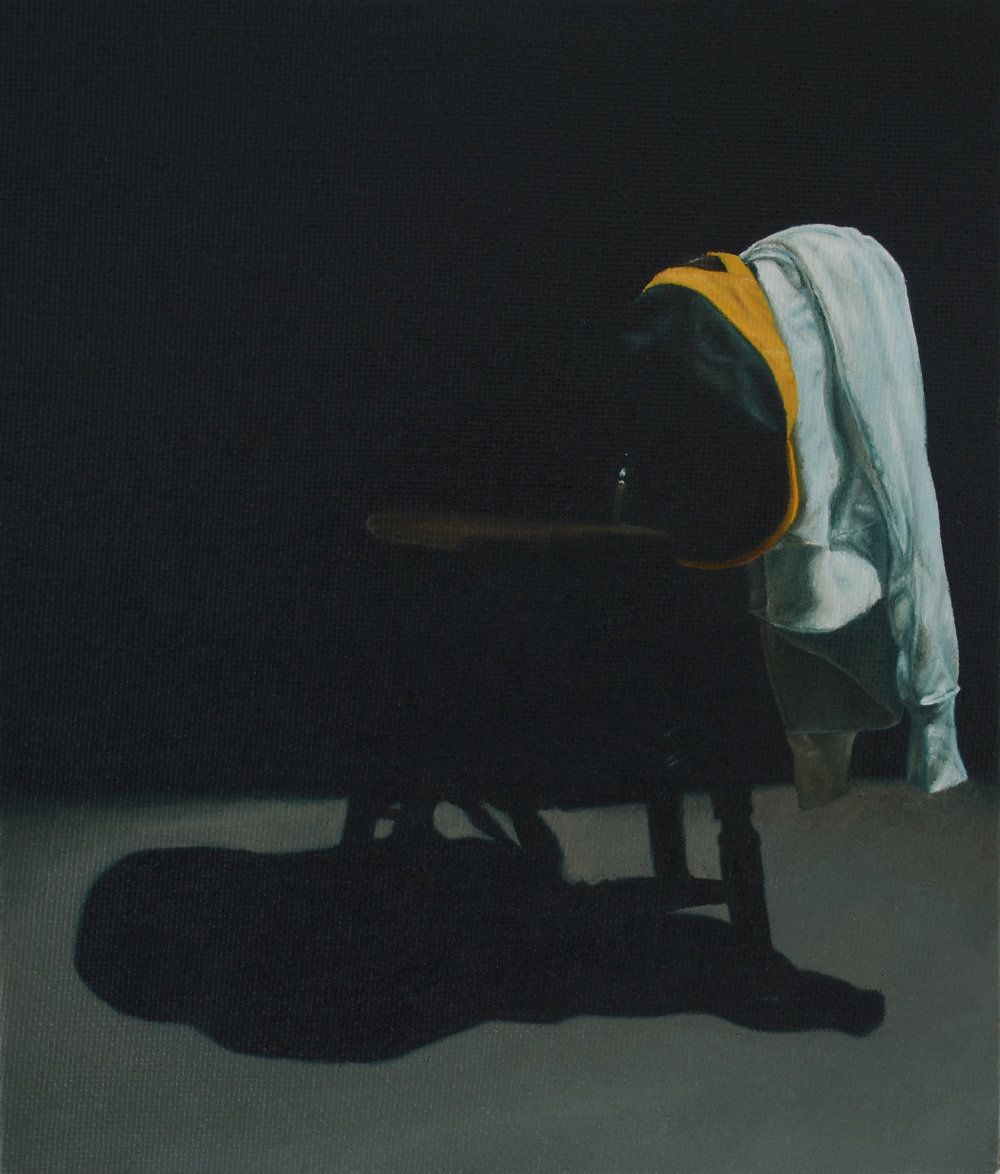 He Sat Listening to the Songs , a painting of the clothing that I used without additional props
