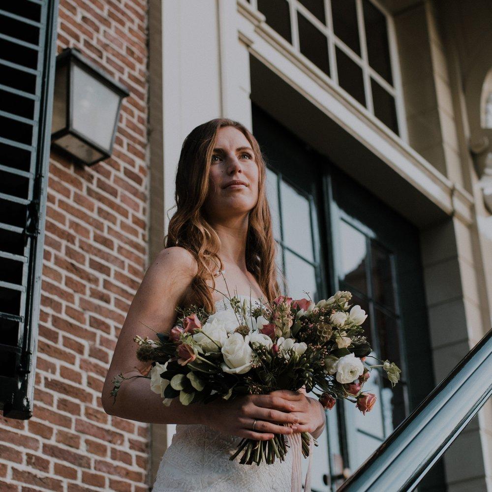 Romantic bridal bouquet- Daisy & Bird floral design