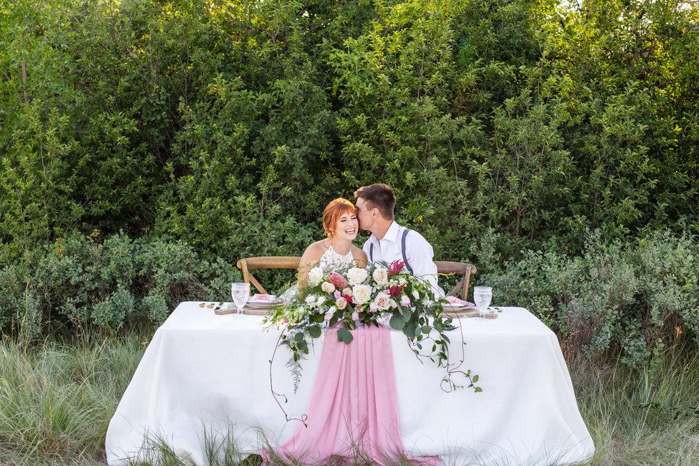 Reception wedding head table