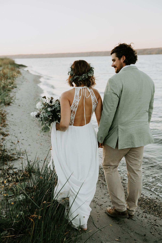Beach Fort Qu'Appelle wedding